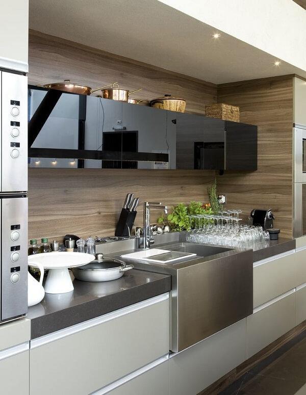 Pia de cozinha de inox