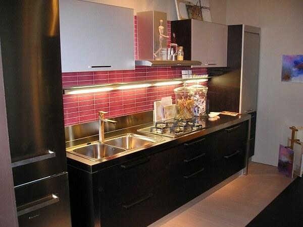 Pia de cozinha em inox com duas cubas