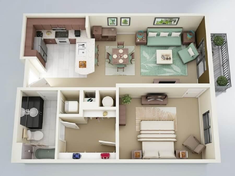 Casas pequenas com salas espaçosas