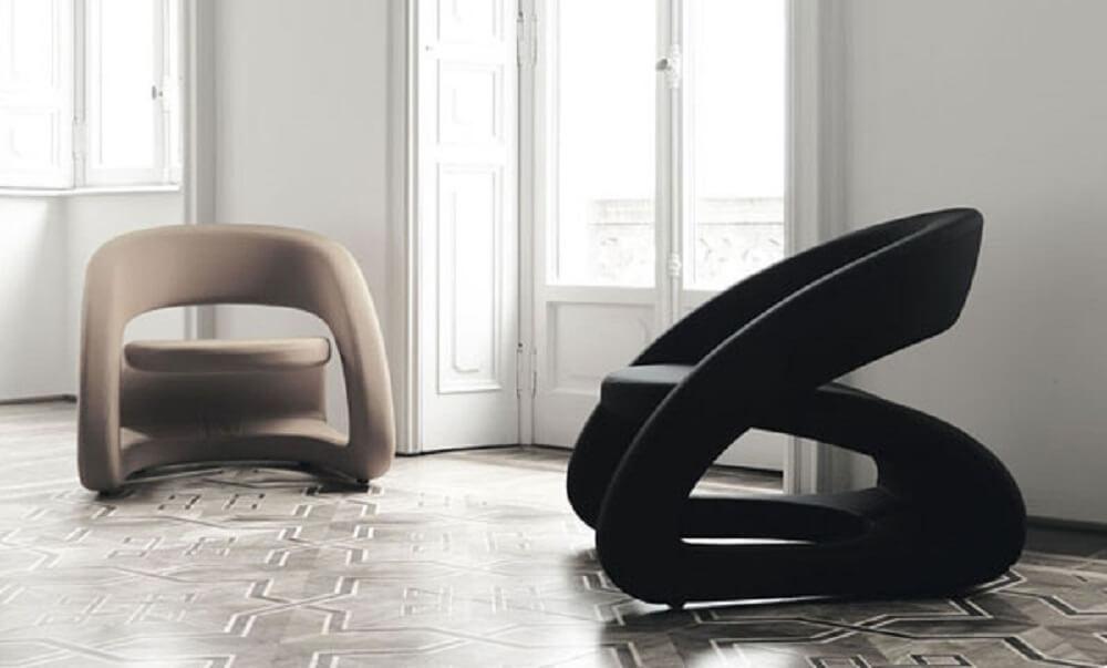 Poltrona decorativa para sala em designer moderno