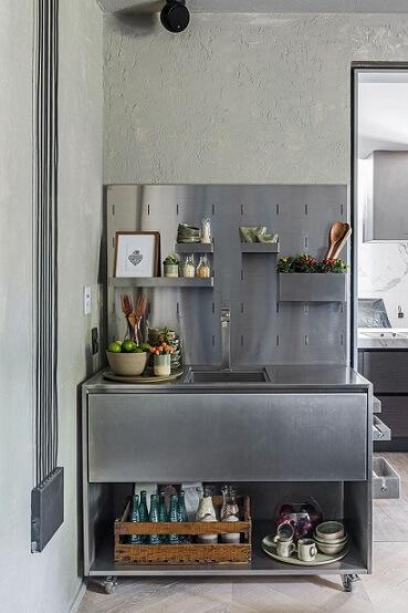 Projeto de casas modernas com uso de aço inox Projeto de Triart Arquitetura