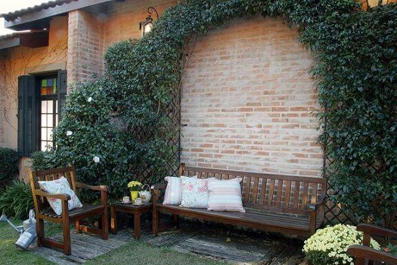Projetos de casas com tijolinhos aparentes de fora Projeto de Katia Perrone