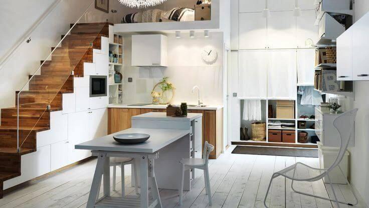Projetos de casas pequenas com ambientes integrados