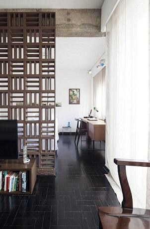 Projetos de casas pequenas com divisória de ambiente Projeto de Filipe Ramos