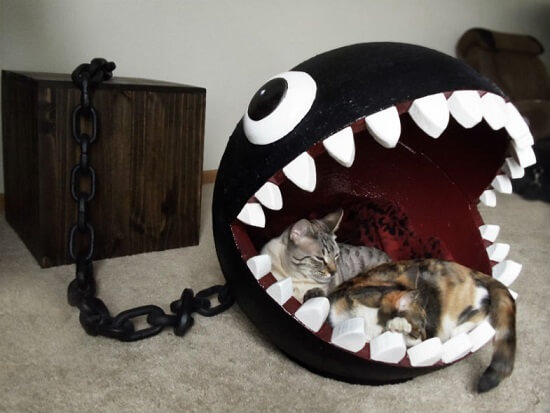 Quarto gamer com cama de animais do Chain Chomp