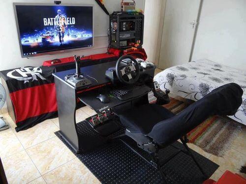 Quarto gamer com paixão gamer em destaque