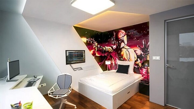 Quarto gamer com tema Star Wars