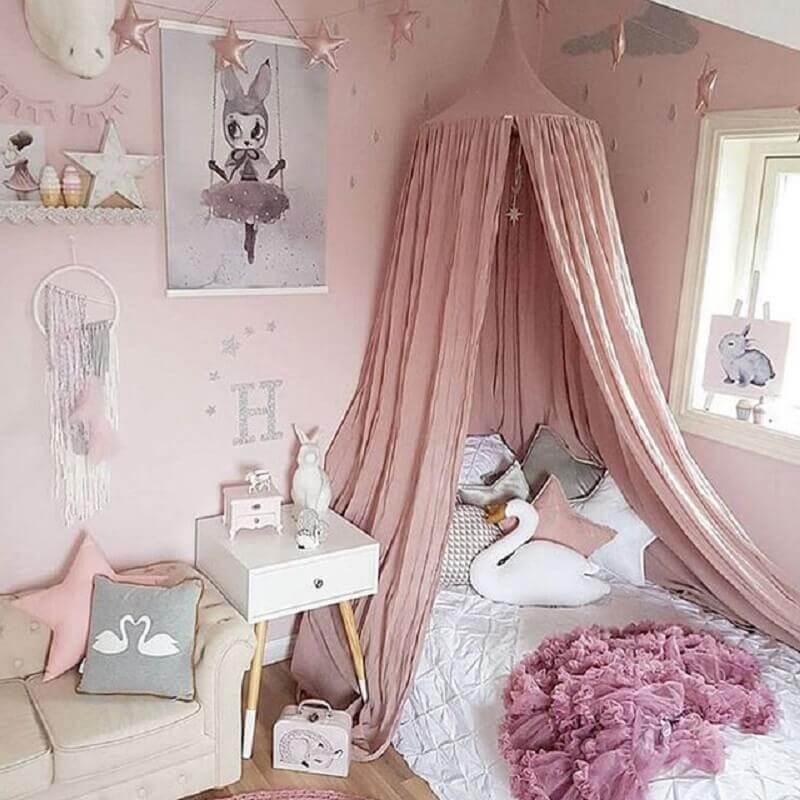 O dossel esta presente em quase todos os quartos de princesa