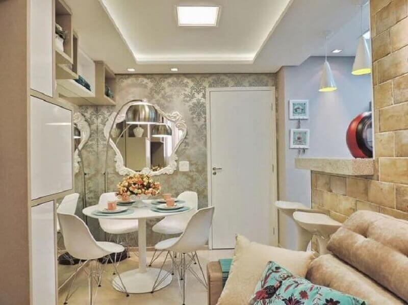 como decorar sala de jantar pequena e integrada