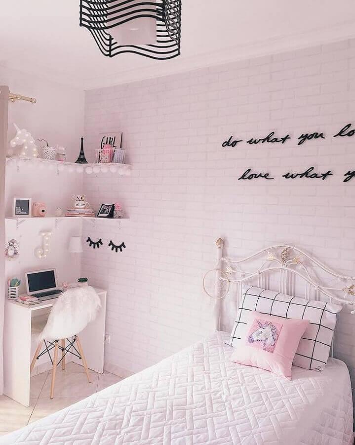 decoração de quarto tumblr todo branco Foto O Mundo de Jackie