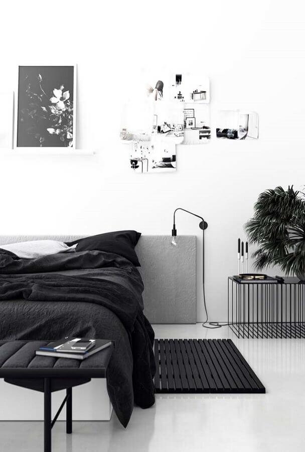 decoração minimalista para quarto tumblr preto e branco Foto TrenDecore