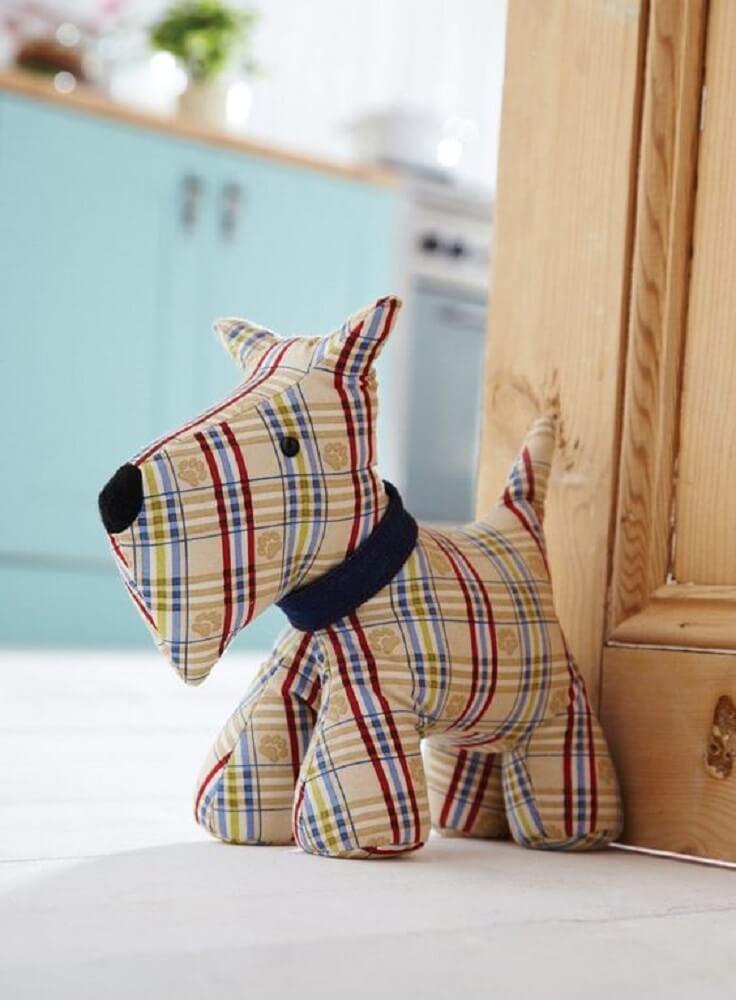 decoração peso de porta cachorro