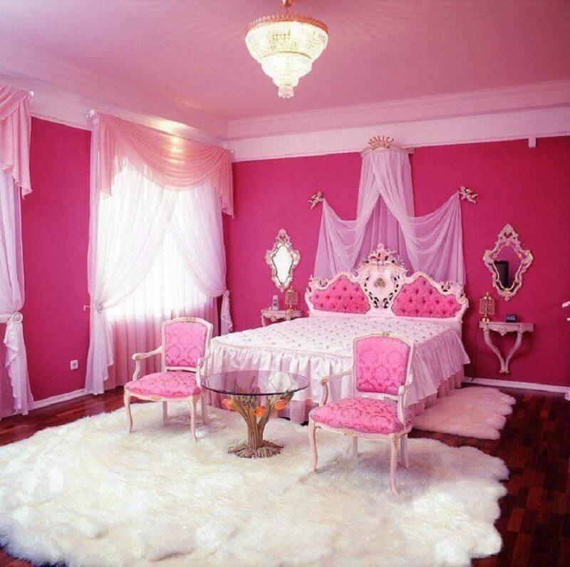 decoração quarto de princesa pink