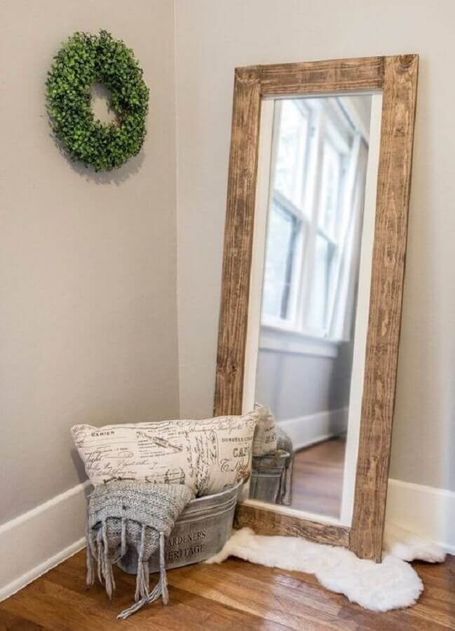 espelho decorativo com moldura rústica Foto Pinterest
