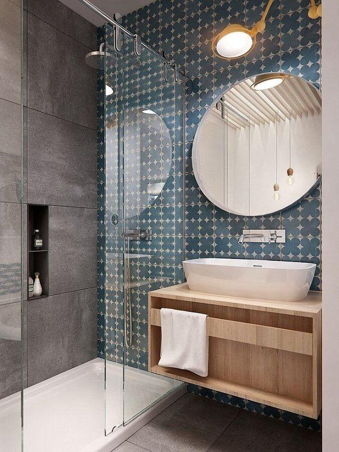 espelho minimalista para banheiro moderno