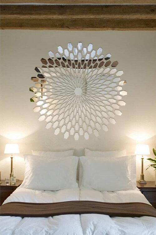Espelho para quarto no estilo bisote