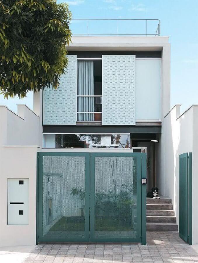 fachada de casa pequena e moderna
