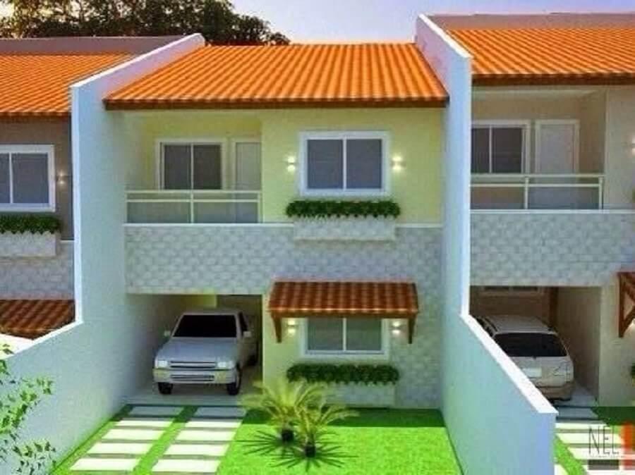 fachadas de casas pequenas com garagem coberta
