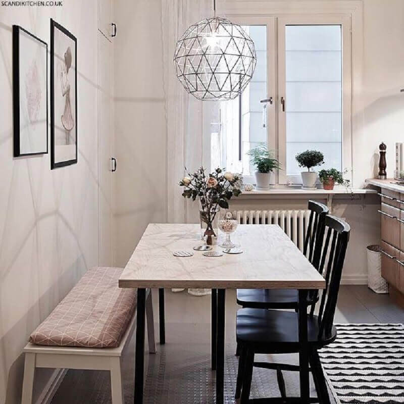 lustre para sala de jantar pequena