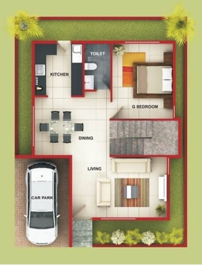 Casas pequenas plantas e projetos para se inspirar for Modelos jardines para casas pequenas