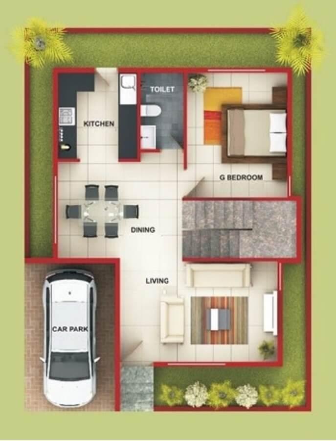 Casas pequenas plantas e projetos para se inspirar - Shop on line casa ...