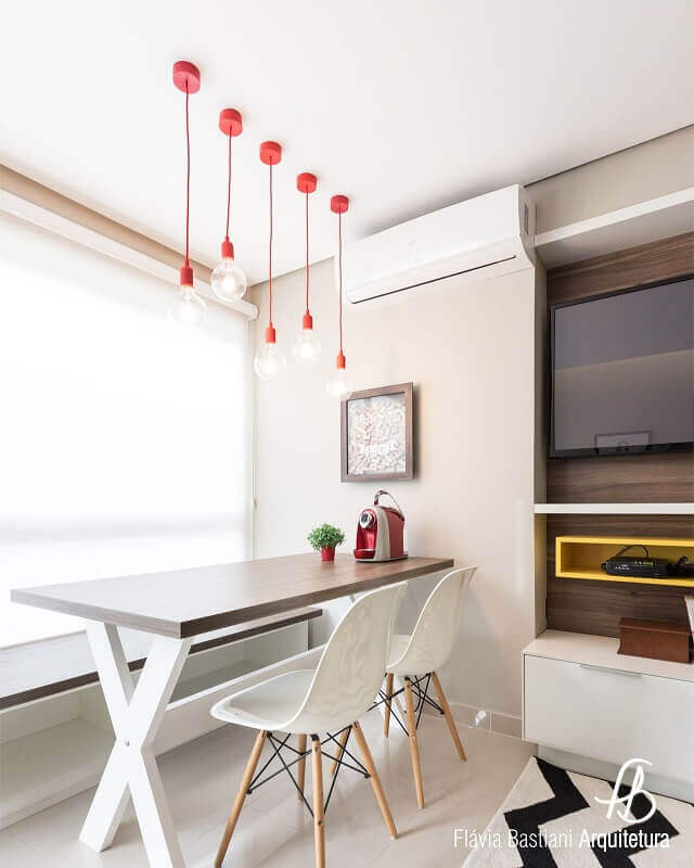 pendentes para sala de jantar pequena
