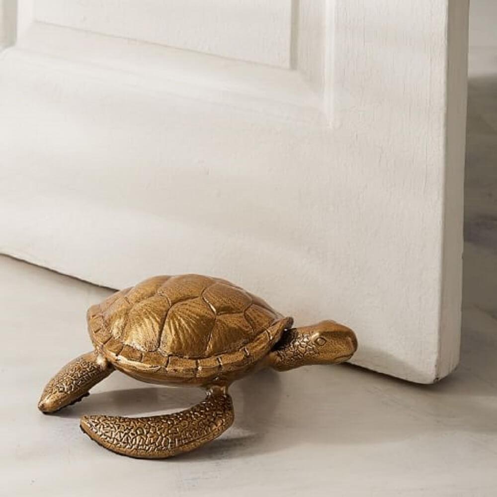 peso para porta de madeira tartaruga