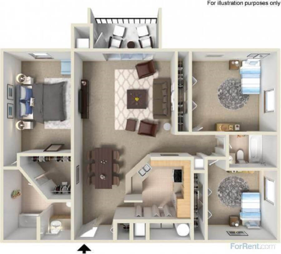 plantas de casas pequenas com 3 quartos