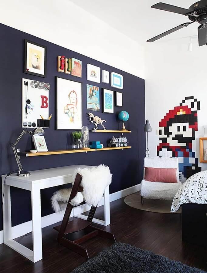 quadros para quarto gamer decorado com adesivo do super mário Foto Home Fashion Trend