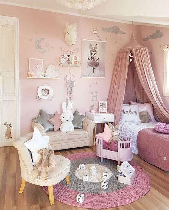 Quarto de princesa cor de rosa