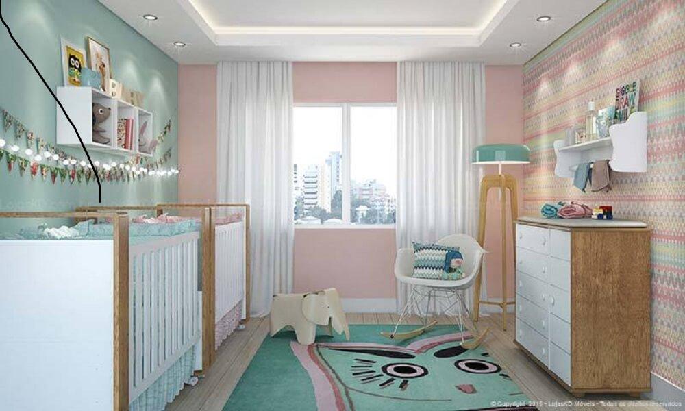 Decoração de quarto lúdico com prateleira para quarto de bebê garante um ambiente mais organizado e super fofo.