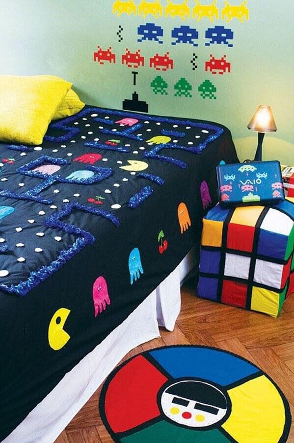 roupa de cama divertida para decoração de quarto gamer Foto Us The Players