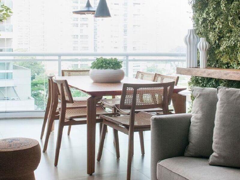 varanda como sala de jantar