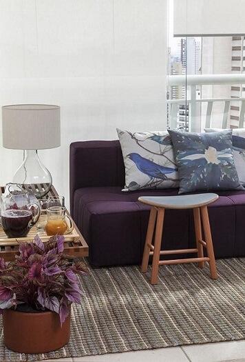 Almofadas decorativas com estampas de natureza Projeto de Ah Sim