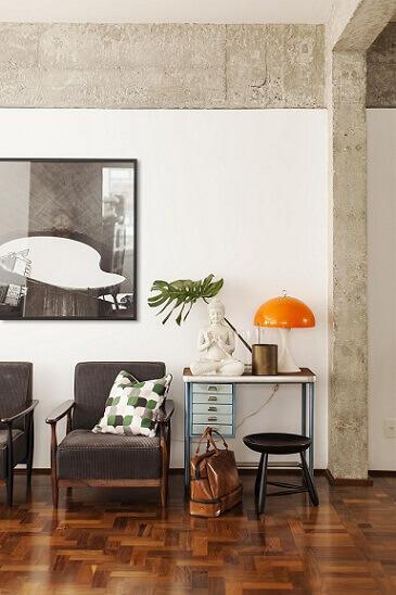 Almofadas decorativas estampadas Projeto de Mauricio Arruda