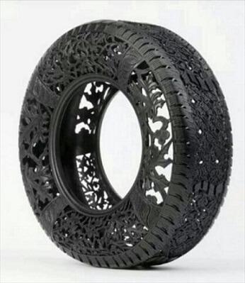 Artesanato com pneus arte no pneu