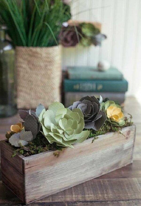 As suculentas formam lindos arranjos de flores artificiais
