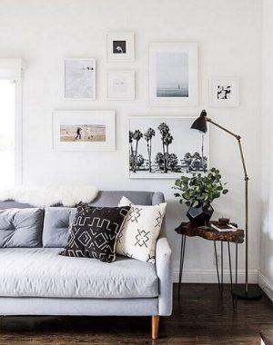 Casas modernas com móvel de pé palito
