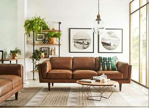 Casas modernas com sofás de couro