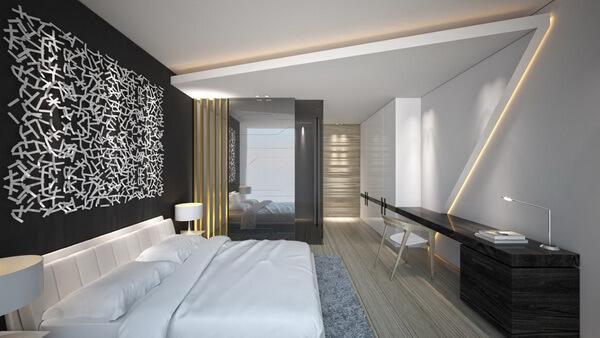 Casas modernas com uso de preto, branco e cinza