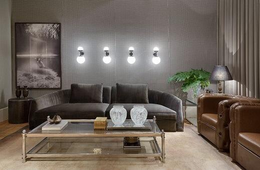 Casas modernas em tons de cinza com arandelas Projeto de Casa Cor MG 17