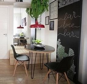 Copa com parede de tinta lousa Projeto de Gabi Aude