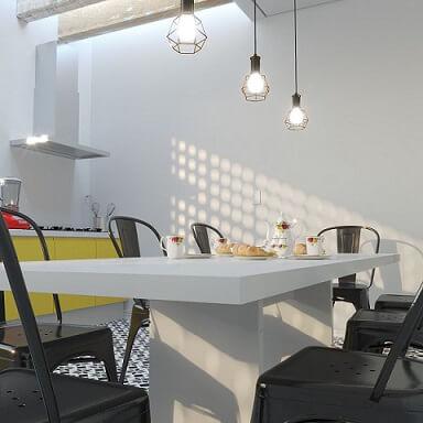 Cozinha com sombra de cobogó Projeto de Daniel Oliveira