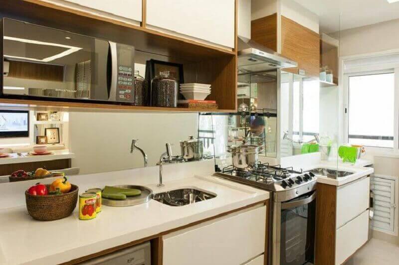 Decoração de cozinha planejada simples e pequena