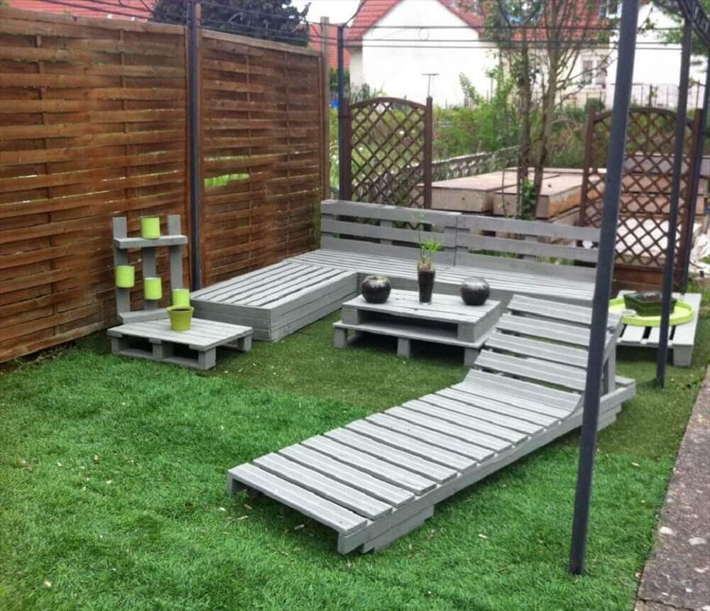 Decoração com paletes para jardim simples