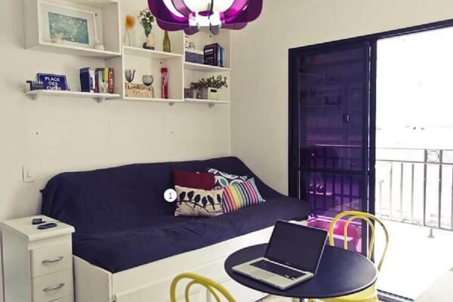 Decoração de apartamento pequeno com bicama