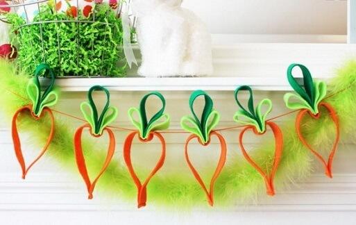 Decoração de páscoa com cenouras
