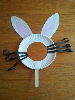 Decoração de páscoa com máscara de coelho