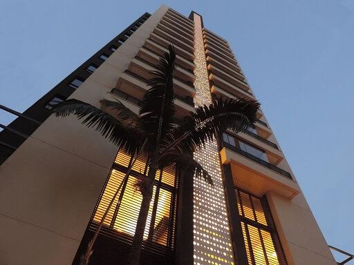 Fachada de prédio com cobogó Projeto de Ilha Arquitetura1