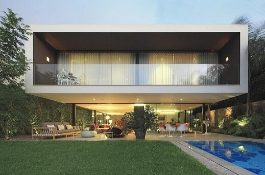 Fachadas de casas modernas geométrico